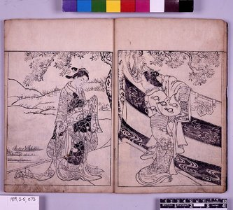 Nishikawa Sukenobu: Ehon Tokiwagusa 絵本常盤草 (Picture-book of Evergreens) - British Museum