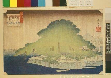 歌川広重: Karasaki ya-u 唐崎夜雨 (Night Rain at Karasaki) / Omi hakkei no uchi 近江八景之内 (Eight Views of Lake Biwa) - 大英博物館