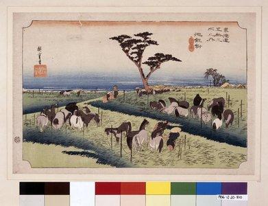 歌川広重: No 40 Chiryu shuka uma-ichi / Tokaido Gojusan-tsugi no uchi - 大英博物館