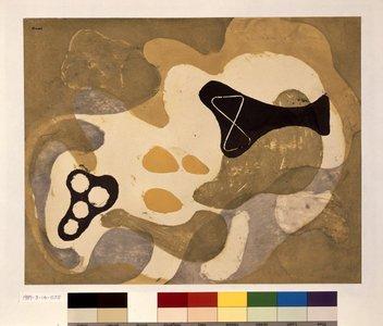 Onchi Koshiro: Poème No. 7: Landscape of May - British Museum