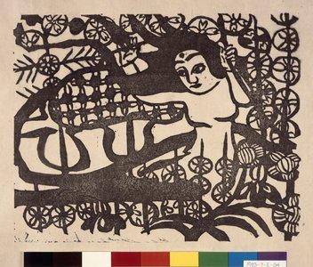 Munakata Shiko: Joshin (Goddess) / Kegonpu (Record of the Kegon Sutra) - British Museum
