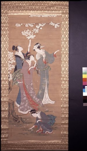 Hosoda Eishi: forgery / painting / hanging scroll - British Museum