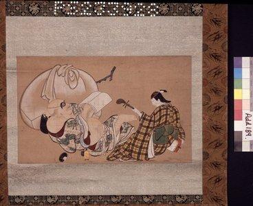 奥村政信: painting / hanging scroll - 大英博物館