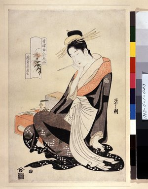 Hosoda Eishi: Seiro Bijin Rokkasen - British Museum