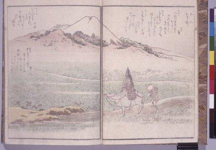 柳川重信: Kyoka meisho zue 狂歌名所図会 (Kyoka Illustrated with Fine Views) - 大英博物館