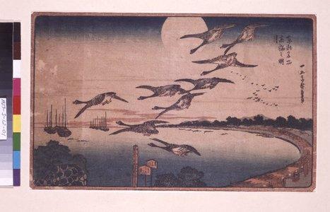 歌川広重: Takanawa no meigetsu / Toto Meisho - 大英博物館