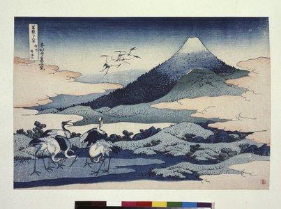 Katsushika Hokusai: Soshu Umezawa-zai 相州梅澤左 (Umezawa Manor in Sagami Province) / Fugaku sanju-rokkei 冨嶽三十六景 (Thirty-Six Views of Mt Fuji) - British Museum