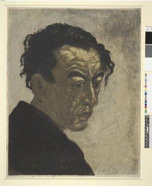 Onchi Koshiro: Portrait of the Poet Hagiwara Sakutaro - British Museum
