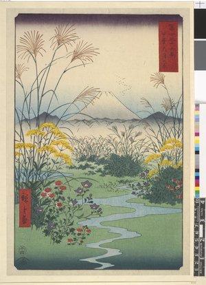 歌川広重: Kai Otsuki-no-hara / Fuji Sanju Rokkei - 大英博物館