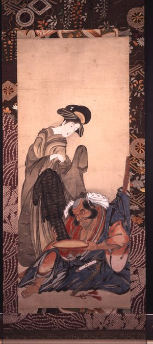 Eishosai Choki: mitate-e / painting / hanging scroll - British Museum