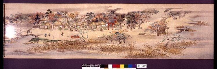 Kano Kyuei: Sumida-gawa choryu zukan 隅田川長流図巻 (Views along the Length of the Sumida River) - British Museum