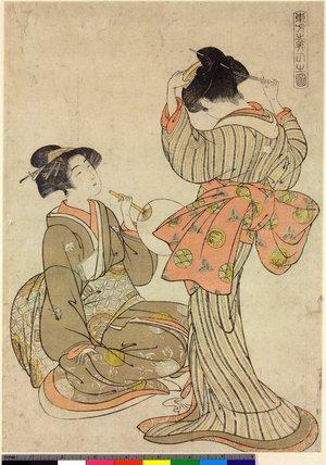 Kitao Shigemasa: Tobo Bijin no zu - British Museum