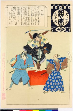 安達吟光: Futatsume / O-Edo shibai nenju-gyoji (Annual Events of the Edo Theatre) - 大英博物館