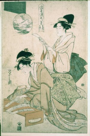Hosoda Eishi: Maboroshi rakugan / Ukiyo Genji Hakkei - British Museum