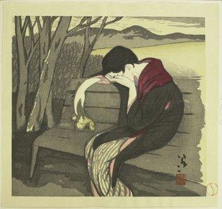 竹久夢二: Woman in Despair - 大英博物館