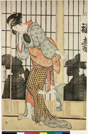 Kitagawa Utamaro: Fukuju 福寿 (The Fukuju tea-house) - British Museum