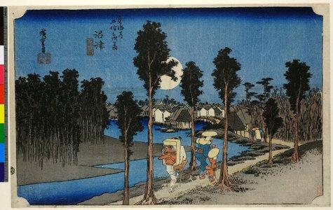 Utagawa Hiroshige: No 13 Numazu tasogare-zu / Tokaido Gojusan-tsugi no uchi - British Museum