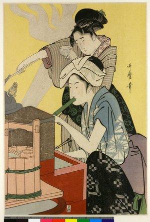 喜多川歌麿: diptych print - 大英博物館
