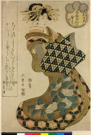 Kitagawa Shikimaro: Imayo Onna Kasen - 大英博物館