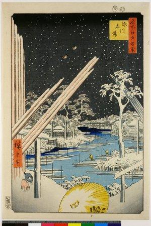 Utagawa Hiroshige: No 106 Fukagawa Kiba / Meisho Edo Hyakkei - British Museum