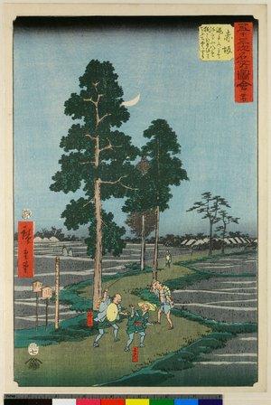 歌川広重: No 37 Akasaka Nawate-michi / Gojusan-tsugi Meisho Zue - 大英博物館