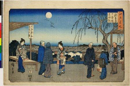 Utagawa Hiroshige: Shin-Yoshiwara Nihon-zutsumi mi kaeri yanagi / Edo Meisho - British Museum