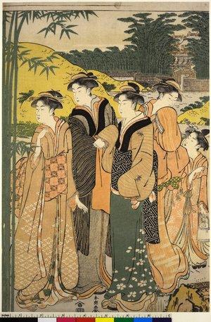 勝川春潮: mitate-e / diptych print - 大英博物館