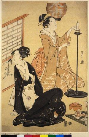 細田栄之: diptych print - 大英博物館
