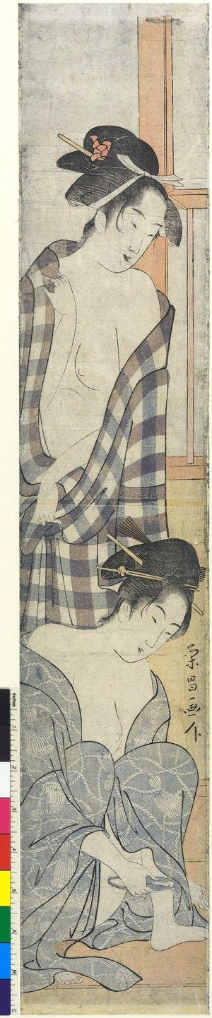 鳥高斎栄昌: print / hashira-e - 大英博物館