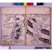 西川祐信: Ehon Tokiwagusa 絵本常盤草 (Picture-book of Evergreens) - 大英博物館
