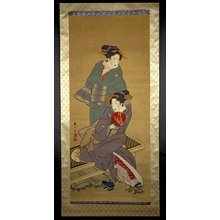 喜多川月麿: painting / hanging scroll / diptych - 大英博物館
