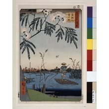 Utagawa Hiroshige: No 69 Ayase-gawa Kanegafuchi / Meisho Edo Hyakkei - British Museum