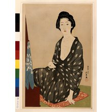 Hashiguchi Goyo: Nakatani Tsuru dressing - British Museum