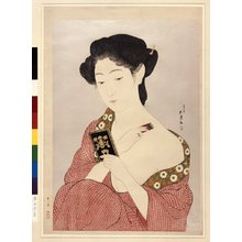 Hashiguchi Goyo: Woman Making Up - British Museum