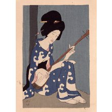 Takehisa Yumeji: Shamisen gusa 三味線草 (Shamisen Leaves) - British Museum