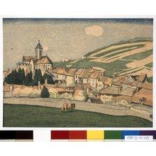 山本鼎: French Pastoral in Spring - 大英博物館