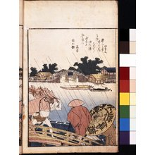 Katsushika Hokusai: Ehon Sumidagawa ryogan ichiran 絵本隅田川両岸一覧 (Panoramic Views on Both Banks of the Sumida River at a Glance) - British Museum