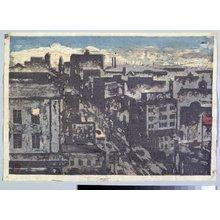 Onchi Koshiro: View of Tokyo - British Museum