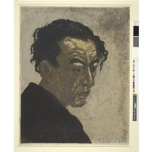 恩地孝四郎: Portrait of the Poet Hagiwara Sakutaro - 大英博物館