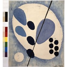 Onchi Koshiro: Form No.3: Uprise of Blue - British Museum