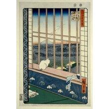 Utagawa Hiroshige: No 101 Asakusa tambo Tori-no-machi mairi / Meisho Edo Hyakkei - British Museum