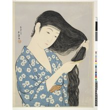 Hashiguchi Goyo: Kamisuki (Combing the Hair) - British Museum