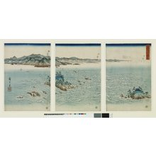 Utagawa Hiroshige: Awa Naruto no fukei 阿波鳴門之風景 (View of Awa no Naruto) / Setsugekka 雪月花 (Snow, Moon and Flowers) - British Museum