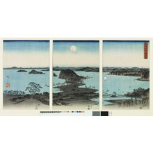 Utagawa Hiroshige: Buyo Kanazawa hassho yakei 武陽金澤八勝夜景 (A night view of the eight great places of Kanazawa, Buyo) / Setsugekka 雪月花 (Snow, Moon and Flowers) - British Museum