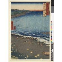 Utagawa Hiroshige: Kazusa Yasashi-ga-ura tori-na Kujukuri / Rokuju-yo Shu Meisho Zue - British Museum