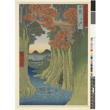 Utagawa Hiroshige: Kai Saru-hashi / Rokuju-yo Shu Meisho Zue - British Museum