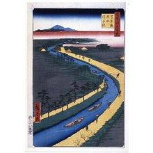 歌川広重: No 33 Yotsugi-dori yosui hikibune / Meisho Edo Hyakkei - 大英博物館