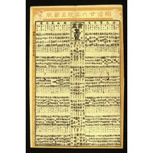 長谷川常治郎: Meiji niju-roku nen shoga shuran (Collected Table of Calligraphers and Painters, 1893) - 大英博物館