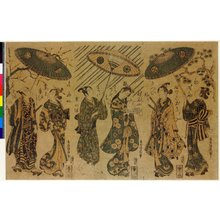 鳥居清廣: triptych print - 大英博物館