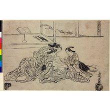 奥村政信: Furyu Kanzan Jittoku - 大英博物館